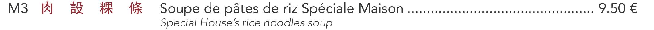 M3 - Soupe de pâtes de riz Spéciale Maison