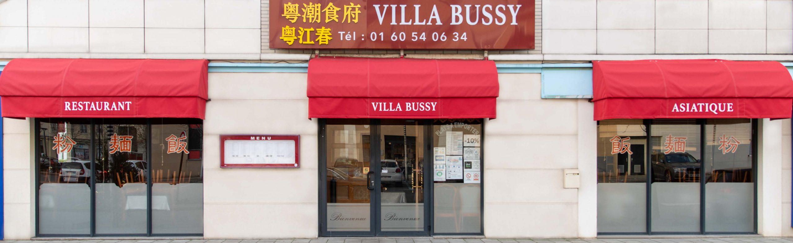 Enseigne Villa de Bussy